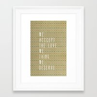 the perks of being a wallflower Framed Art Prints featuring perks of being a wallflower by Elanor Jarque