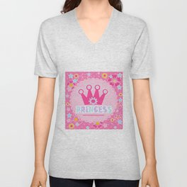 """For the little Princess. From the series """"Gifts for kids"""" . Unisex V-Neck"""