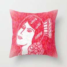 Lady from Spain Throw Pillow