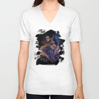 sterek V-neck T-shirts featuring Promise me (Sterek) by MGNemesi