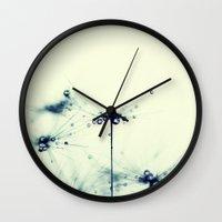 dandelion Wall Clocks featuring dandelion by Ingrid Beddoes