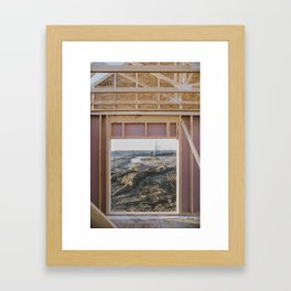 Idyllic Landscape Found within Suburbia's Mauve Constructions Framed Art Print