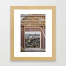 Idyllic Landscape Found within Suburbia's Mauve Constructions Framed Art Print