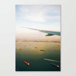 soaring over singapore Canvas Print