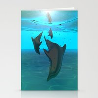 dolphins Stationery Cards featuring Dolphins by tvoneiro