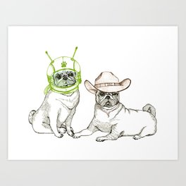 Cowboys & Aliens Art Print