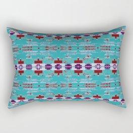 teal aztec geo mix Rectangular Pillow
