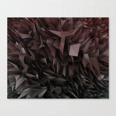 3d polygons displacement Canvas Print