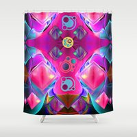 diamonds Shower Curtains featuring Diamonds by thea walstra