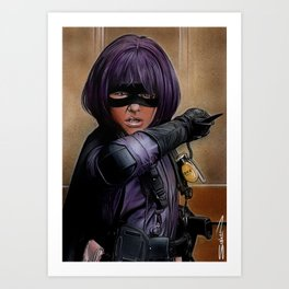 Hit Girl Art Print
