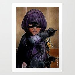 Hit Girl Art Print