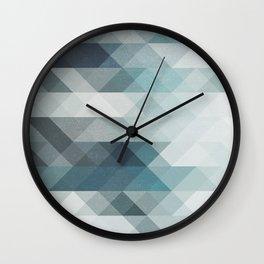 Triangles geometric art Wall Clock