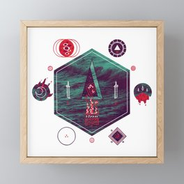It fell from the stars, It rose from the sea Framed Mini Art Print