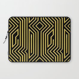 3-D Art Deco Gold Architectural Style Pattern Laptop Sleeve