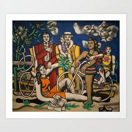 Paris, France Centre Pompidou family and friends portrait by Fernand Leger Art Print