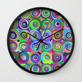 6x6 001 - abstract bouquet Wall Clock