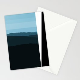 Blue Mountainscape Stationery Cards