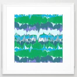 Marbled in jewel Framed Art Print