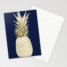 Pineapple Pineapple Gold on Navy Blue Stationery Cards
