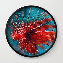Lion Fish Wall Clock