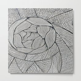Zentangle #8 Metal Print