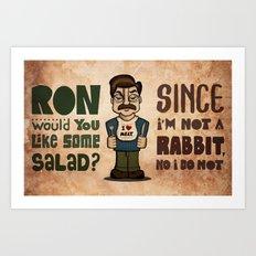 Ron Swanson 2 Art Print