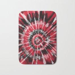 Red Tie Dye Bath Mat