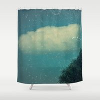 cloud Shower Curtains featuring Cloud by monoChrome