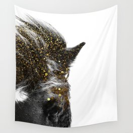 golden horse Wall Tapestry