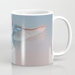 Pale blue flying lovebird Coffee Mug