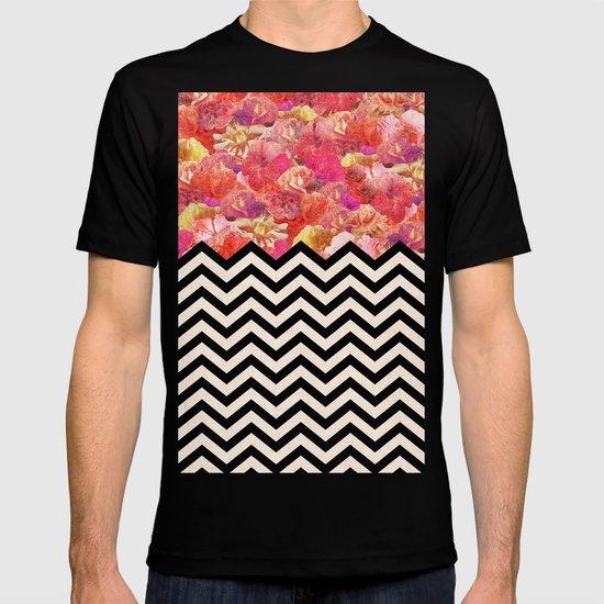 Chevron Flora T-shirt