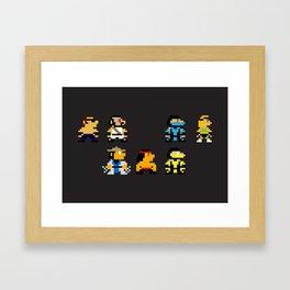 Choose Your Fighter Framed Art Print