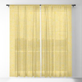 Solar Flare Molten Gold Abstract Sheer Curtain