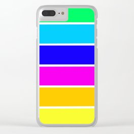 Bright Stripes Clear iPhone Case