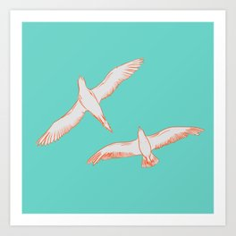 Seagull Marriage Art Print