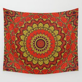Mandala Fractal in Indian Summer 03 Wall Tapestry