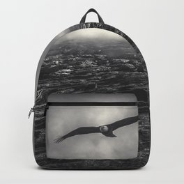 Hunting The Fog Line Bald Eagle Backpack