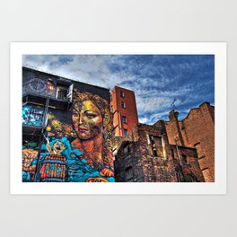 Colourful MANchester Art Print