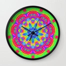 Amazing Day Neon Mandala Wall Clock