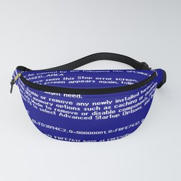 Blue screen of death Fanny Pack
