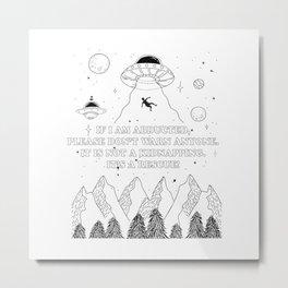 UFO Abduction Metal Print