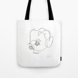 F Scott Fitzgerald Line Drawing Tote Bag