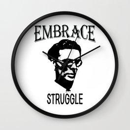 Embrace Struggle | Aldous Leonard Huxley Wall Clock
