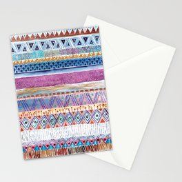 Tribal Watercolor Pattern. Stationery Cards