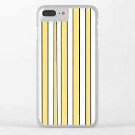 Strips 4-line,band,striped,zebra,tira,linea,rayas,rasguno,rayado. Clear iPhone Case