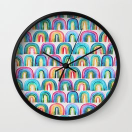 Rainbow Rows Wall Clock