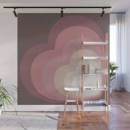 ELISE WINE - Mid Century Modern Abstract Pattern Graphic Design Wall Mural