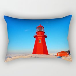 Lighthouse  and Frozen Sea Rectangular Pillow