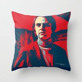 Carl Sagan Art Throw Pillow