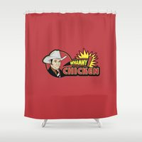 will ferrell Shower Curtains featuring Whammy design by Buby87